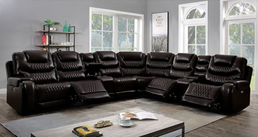 Brown Section w/ Recliner