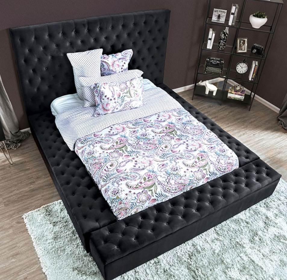 Dark Gray Bed