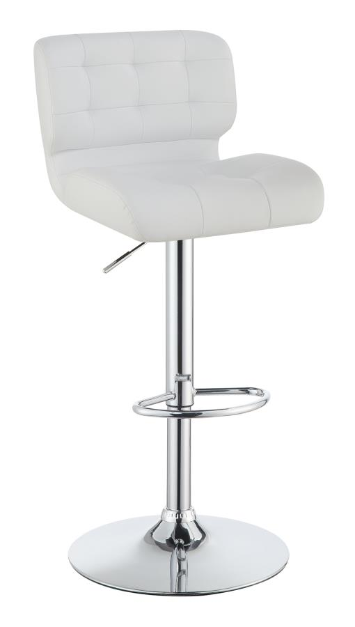 White Height Adjustable Bar Stool