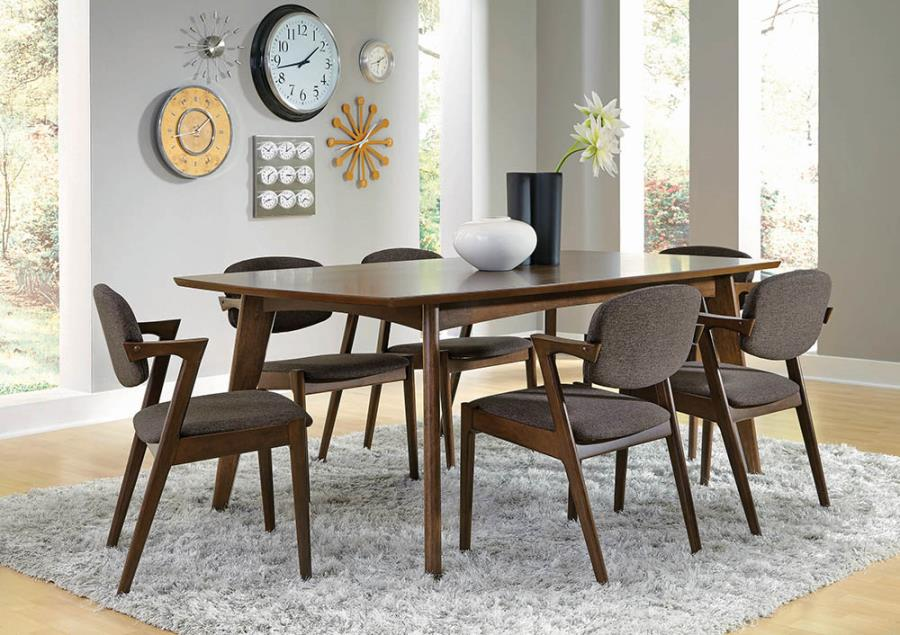 Complete Dining Table Set w/ Angular Side Chairs