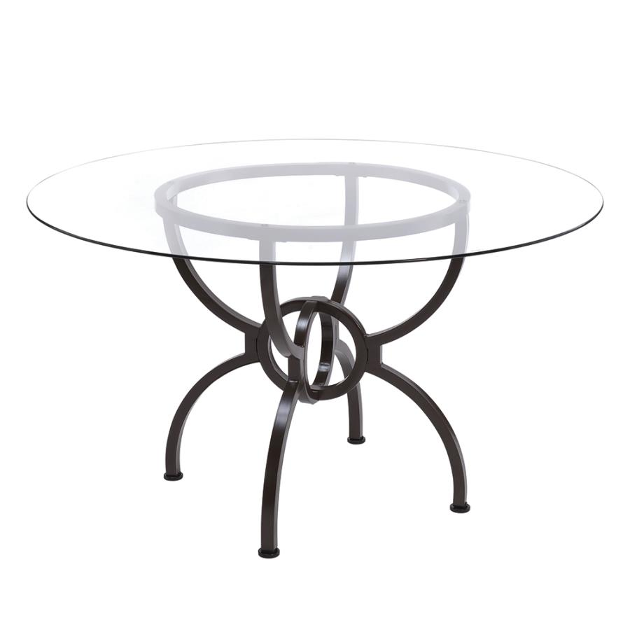 Dining Table Base Angle w/ Glass Top