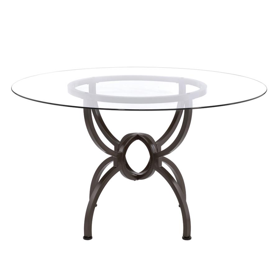 Dining Table Base Front w/ Glass Top