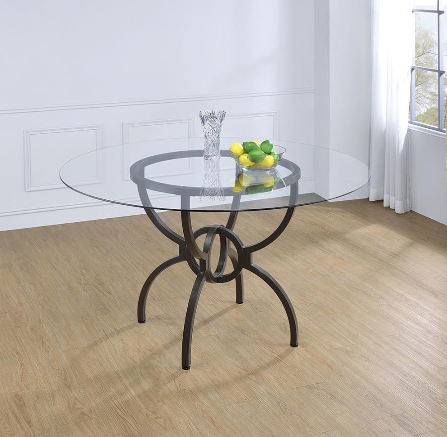 Dining Table Base w/ Glass Top