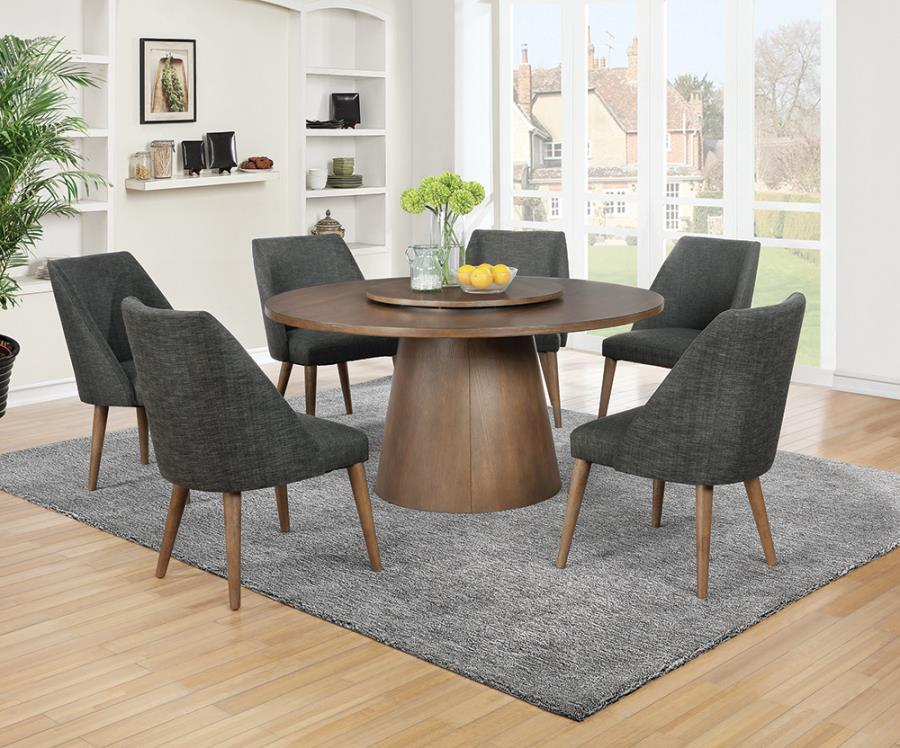 Beverly Mid Century Modern Style Round Metal Dining Table
