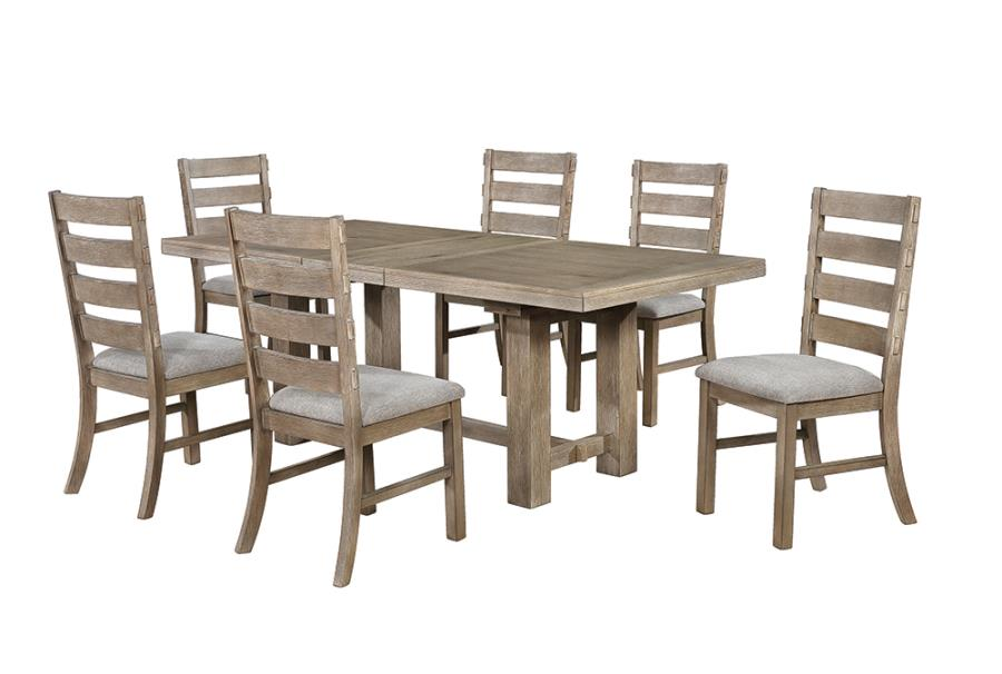Dining Table Set w/ Ladder Back Dining Chairs