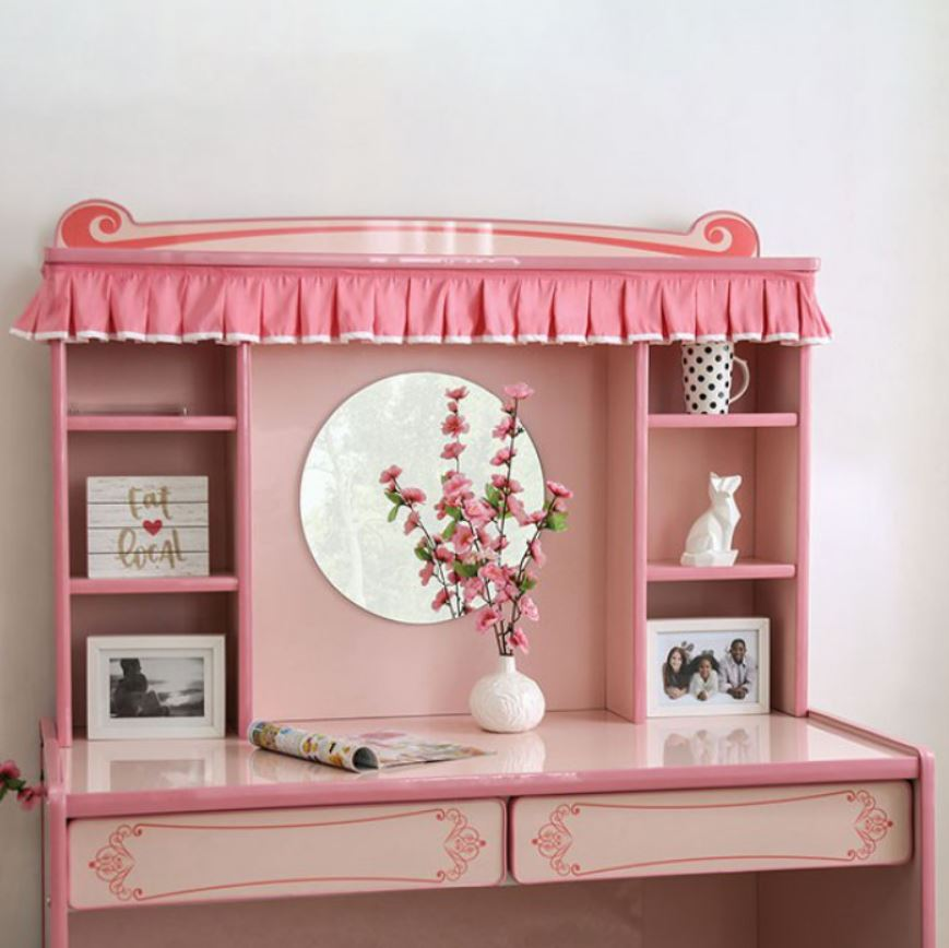 Desk w/ Hutch and Mirror (Included)