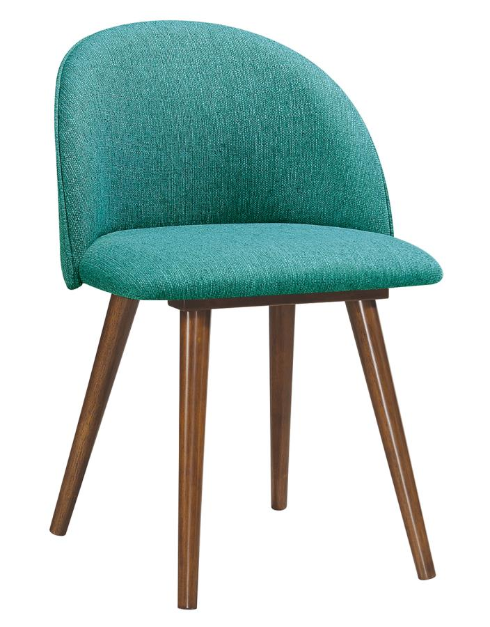 Teal Fabric Side Chair Angle