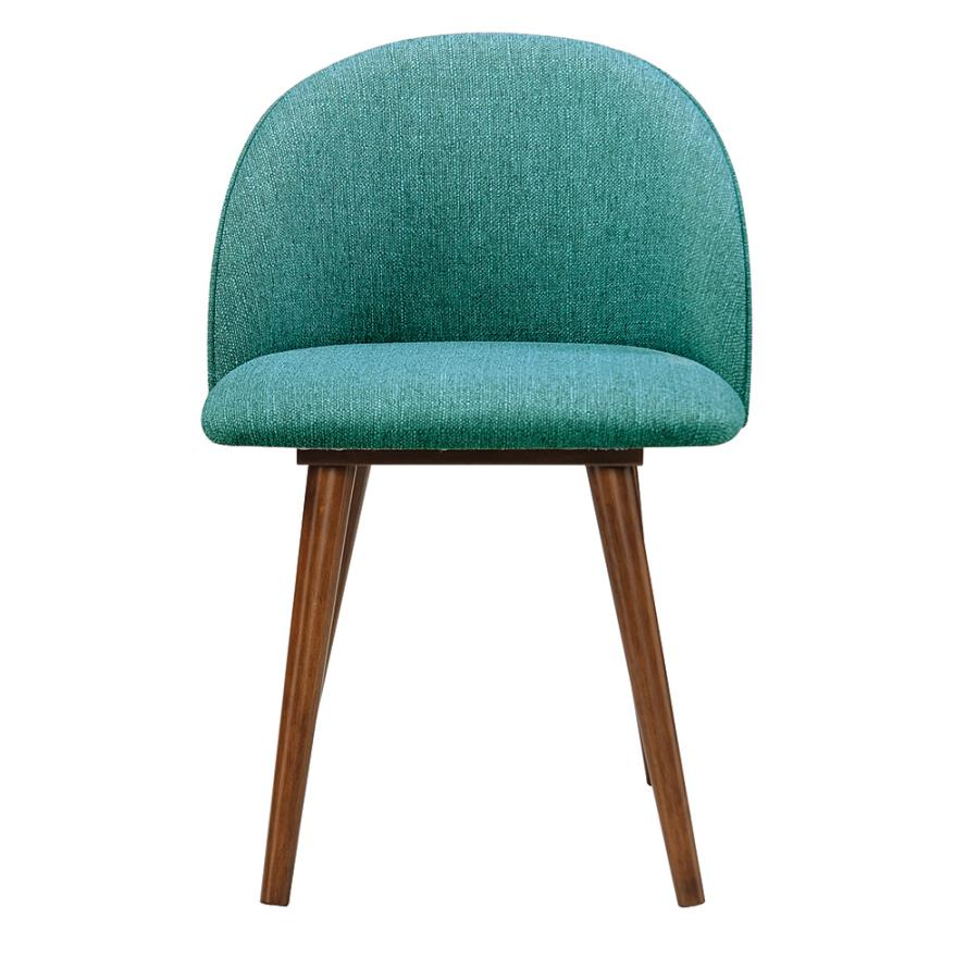 Teal Fabric Side Chair Front
