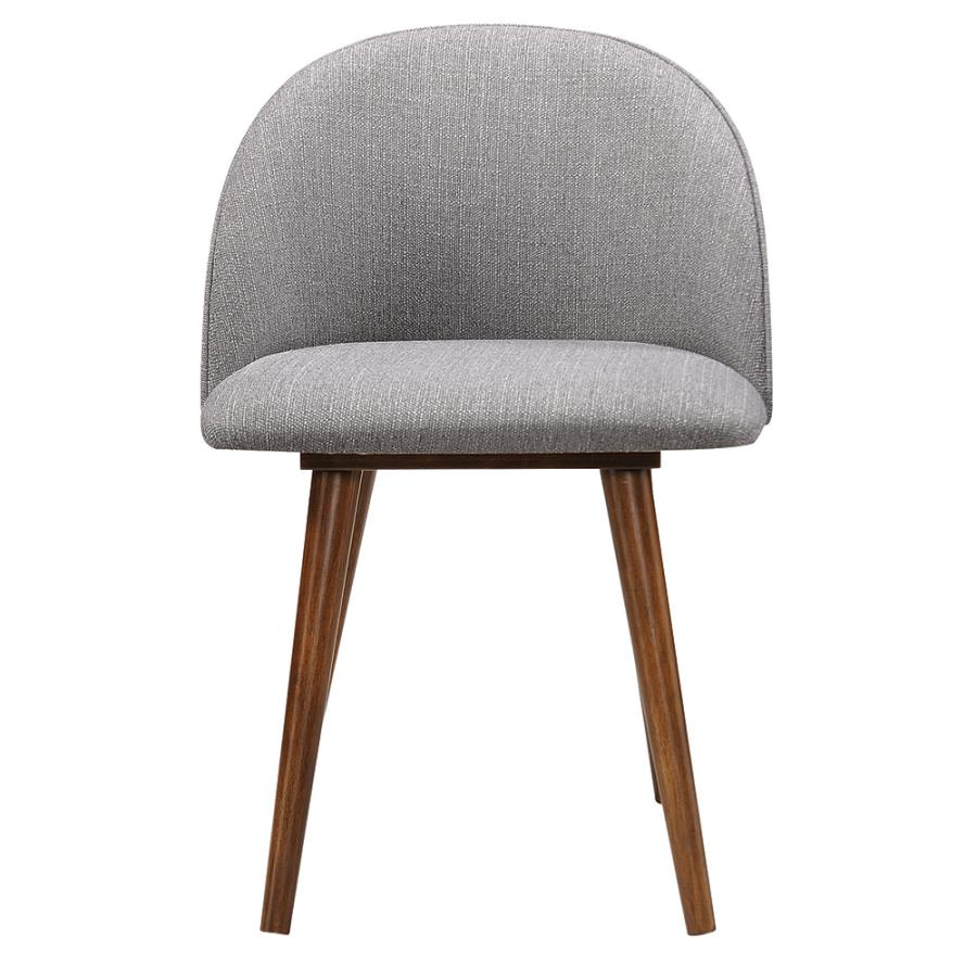 Grey Fabric Side Chair Front