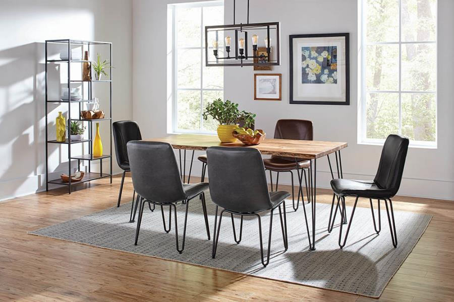 Dining Table Set w/ Leatherette Side Chairs