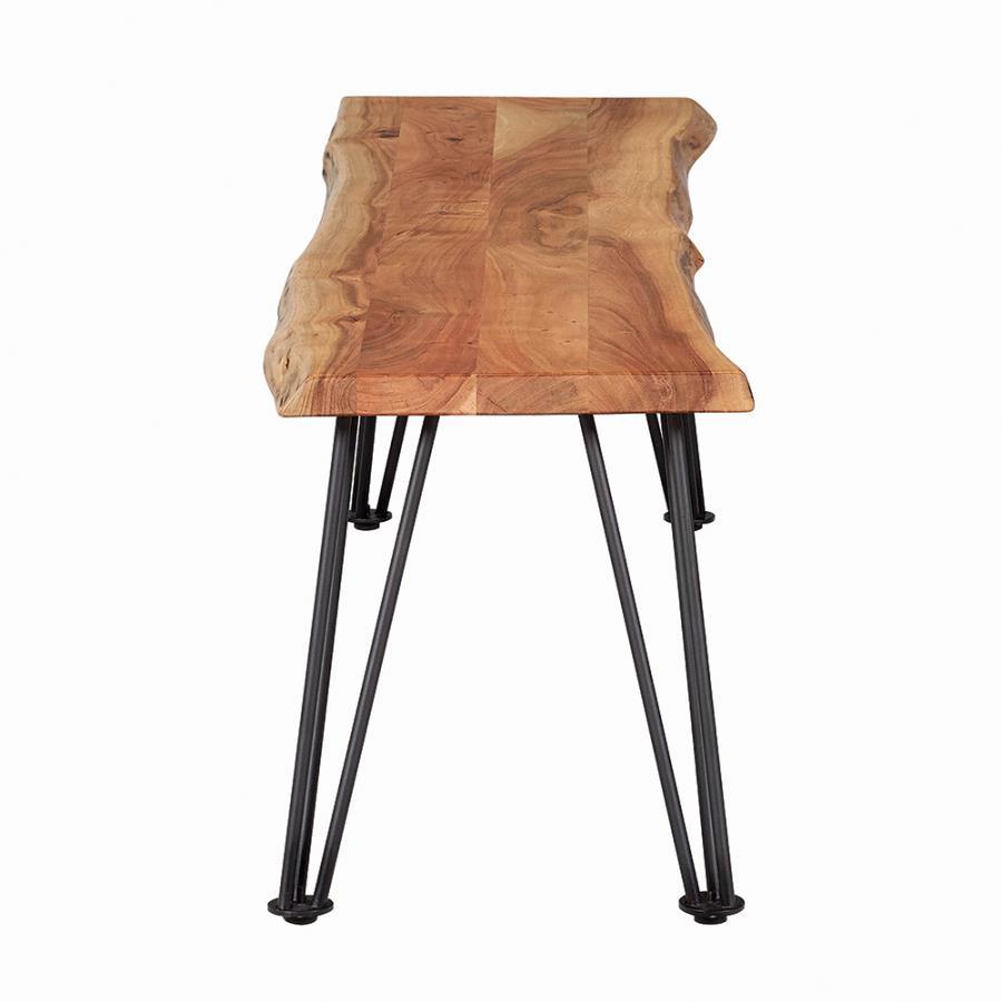 Wood Bench Leg Base View