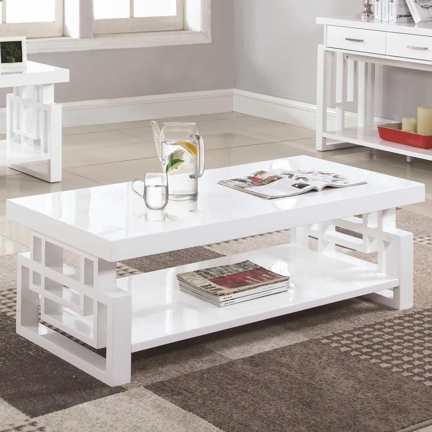 - Rectangular Contemporary Coffee Table