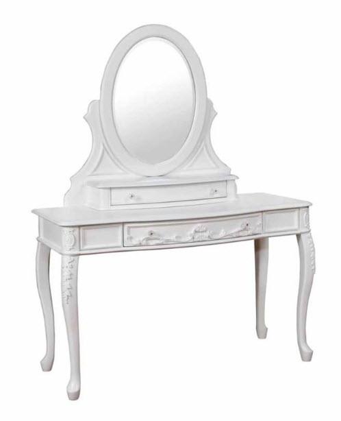 Vanity Desk, Mirror, & Stool