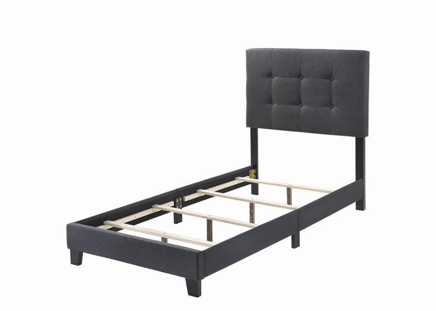 Charcoal Upholstered Bed Frame