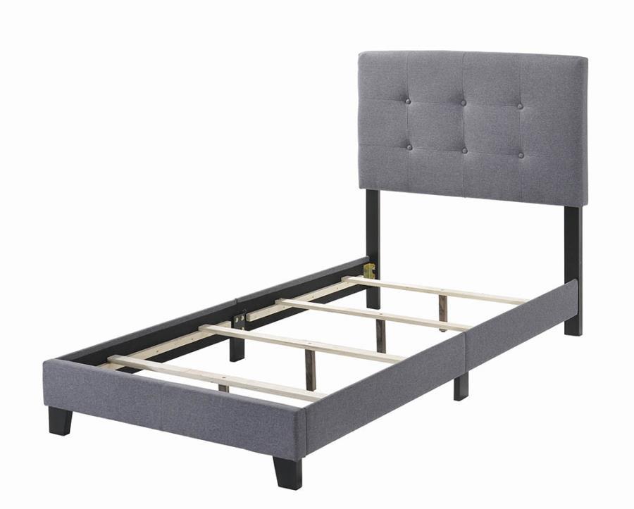 Grey Upholstered Bed Frame