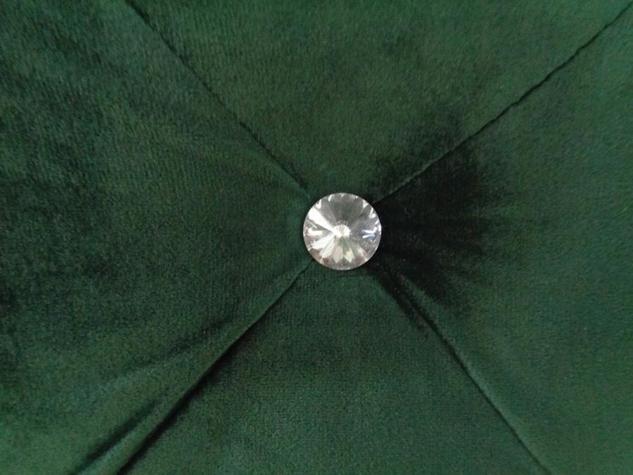 Green Velvet Upholstered Tufted Headboard