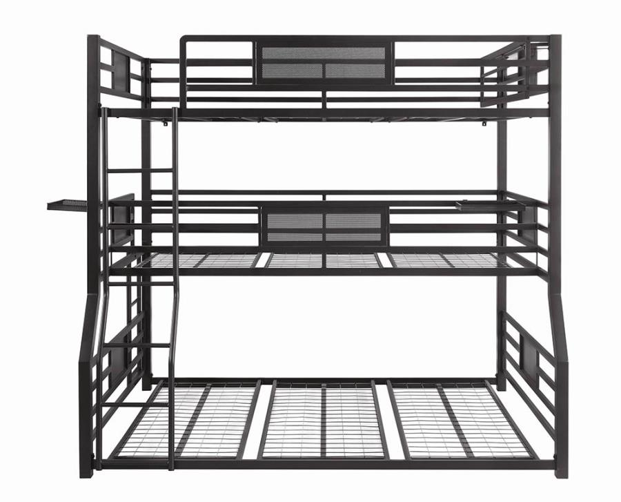 Triple Full/Twin XL/Queen Bed Frame Side View