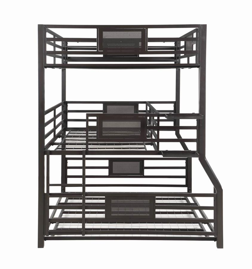 Triple Full/Twin XL/Queen Bed Frame Front View