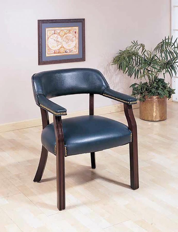Blue Leatherette Office Chair