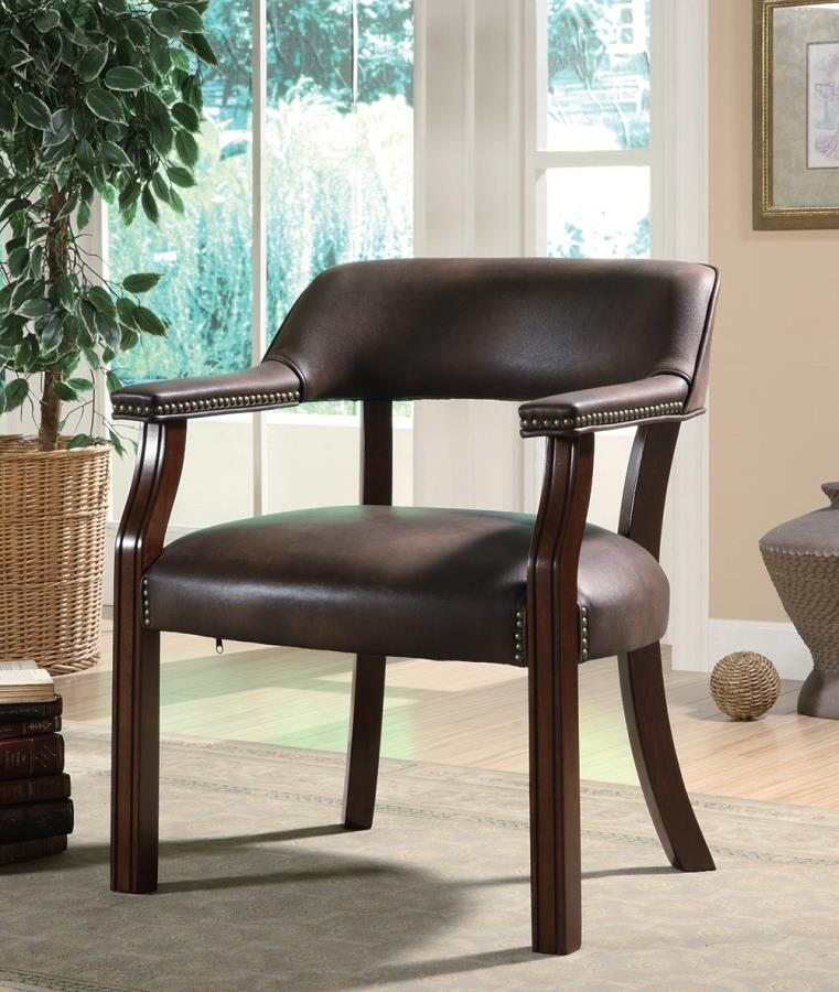 Brown Leatherette Office Chair