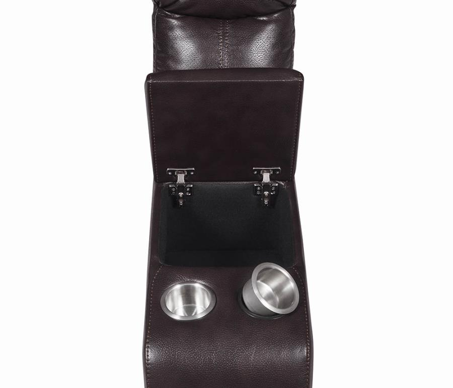 Center Console w/ Removable Stainless Steel Cup Holders and Lift Top Storage