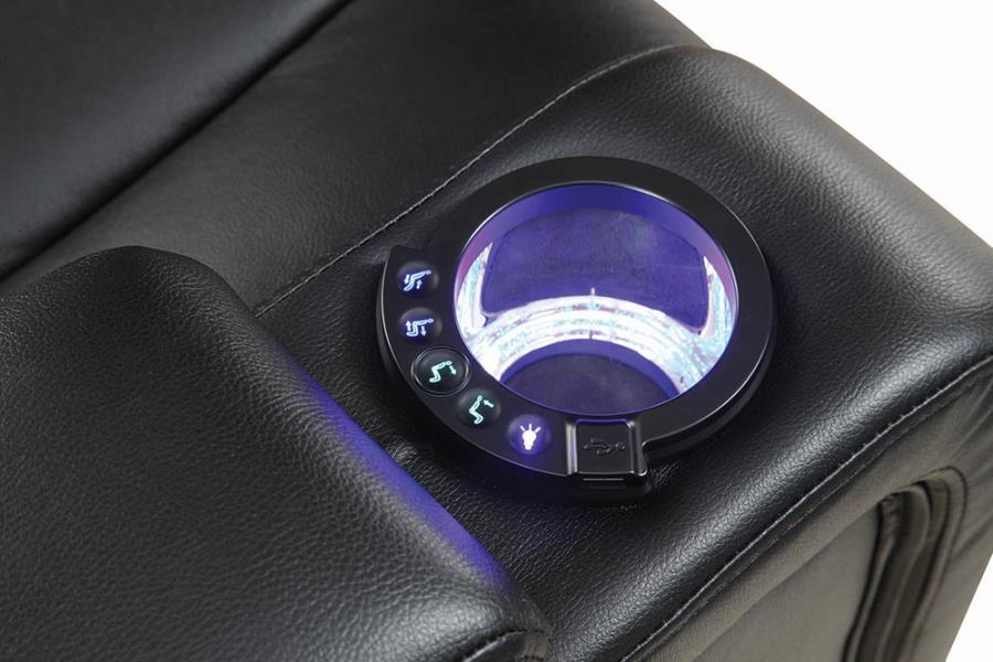 LED Light Side Cup Holder w/ Reclining Power Buttons