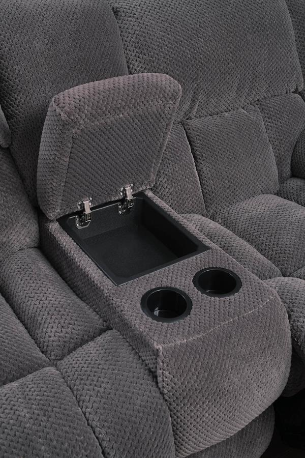 Soft-Closing Lift Top Storage w/ Removable Stainless Steel Cup Holders