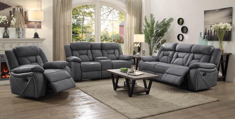 Grey Complete Reclining Sofa Set