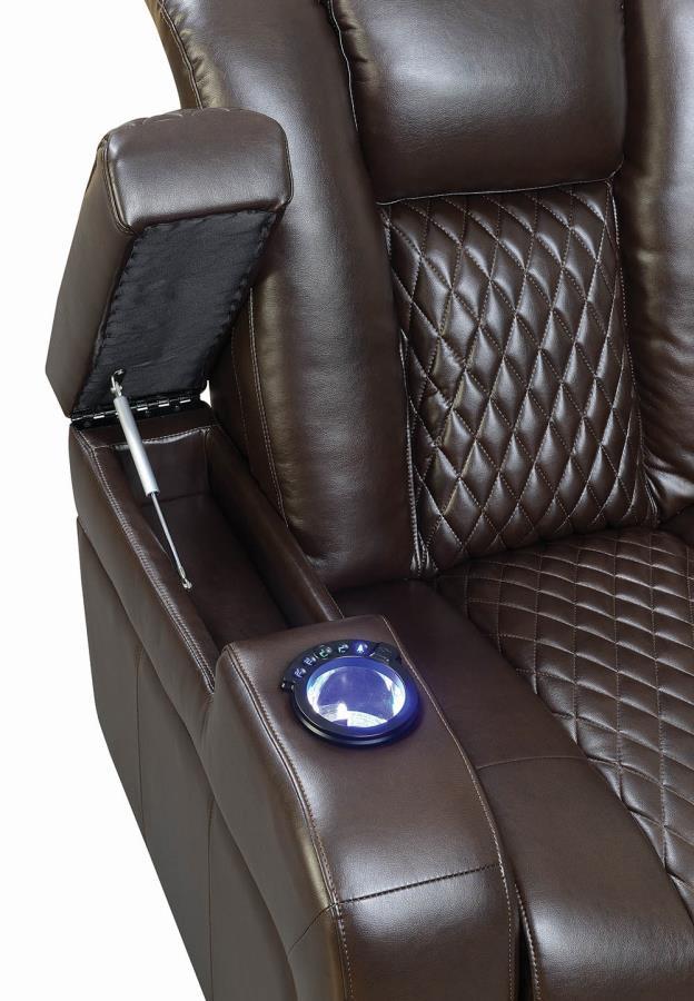 LED Light Side Cup Holder w/ Lift Top Armrest