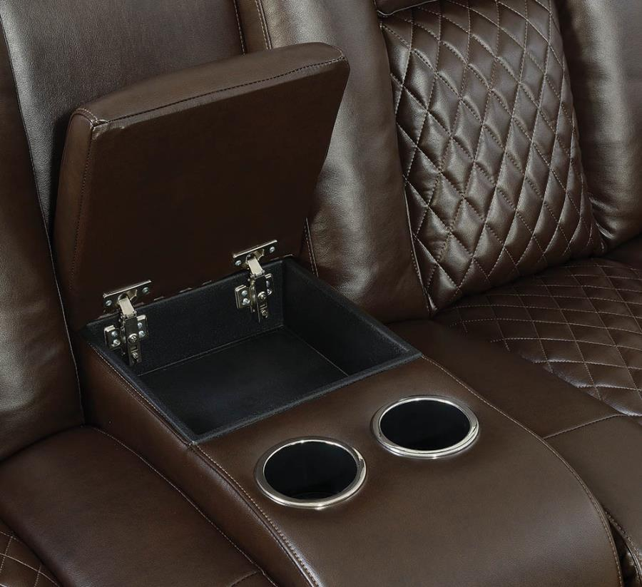 Center Console w/ Soft-closing Lift Top Storage and Removable Stainless Steel Cup Holders