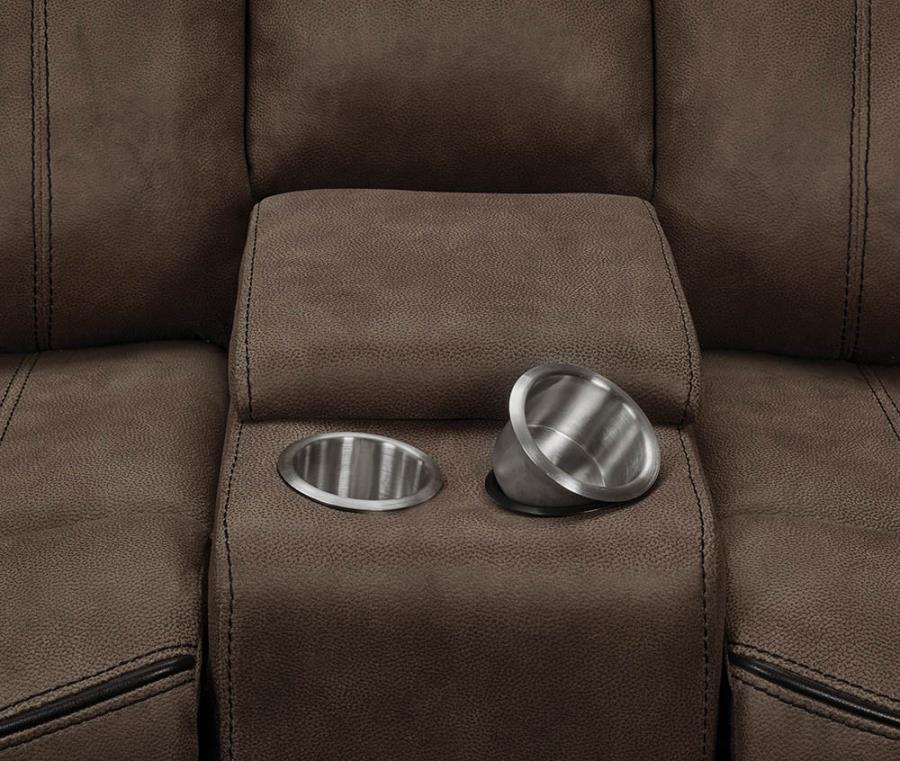 Soft-Closing Lift Top Storage and Removable Stainless Steel Cup Holders