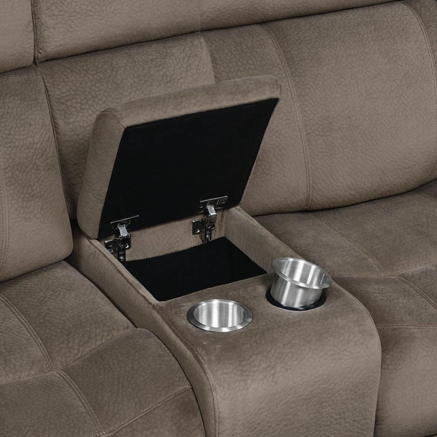 Soft- Closing Lift Top Storage w/ Removable Stainless Steel Cup Holders
