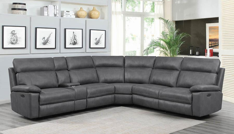Grey Complete 6-piece Sectional Sofa