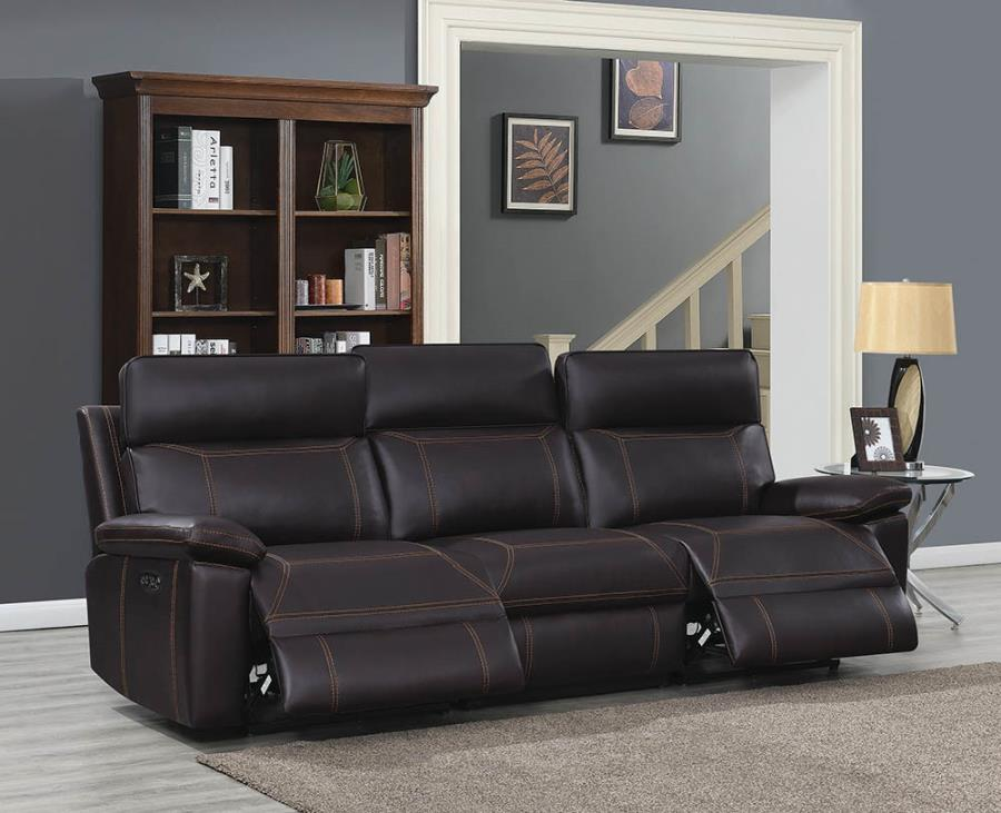 Configuration of Sofa w/ Left Arm Facing, Armless Chair, and Right Arm Facing Recliners
