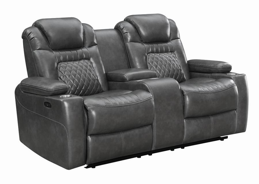 Charcoal Power Loveseat