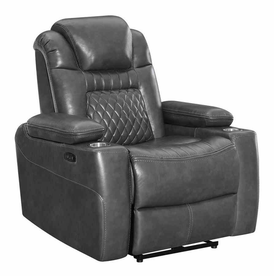 Charcoal Power Motion Recliner not Opened