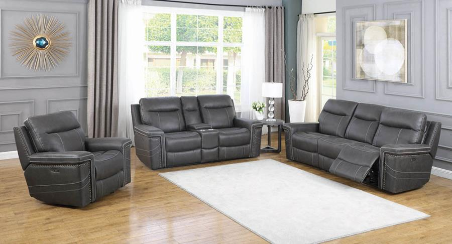 Charcoal Complete Power Motion Reclining Sofa Set