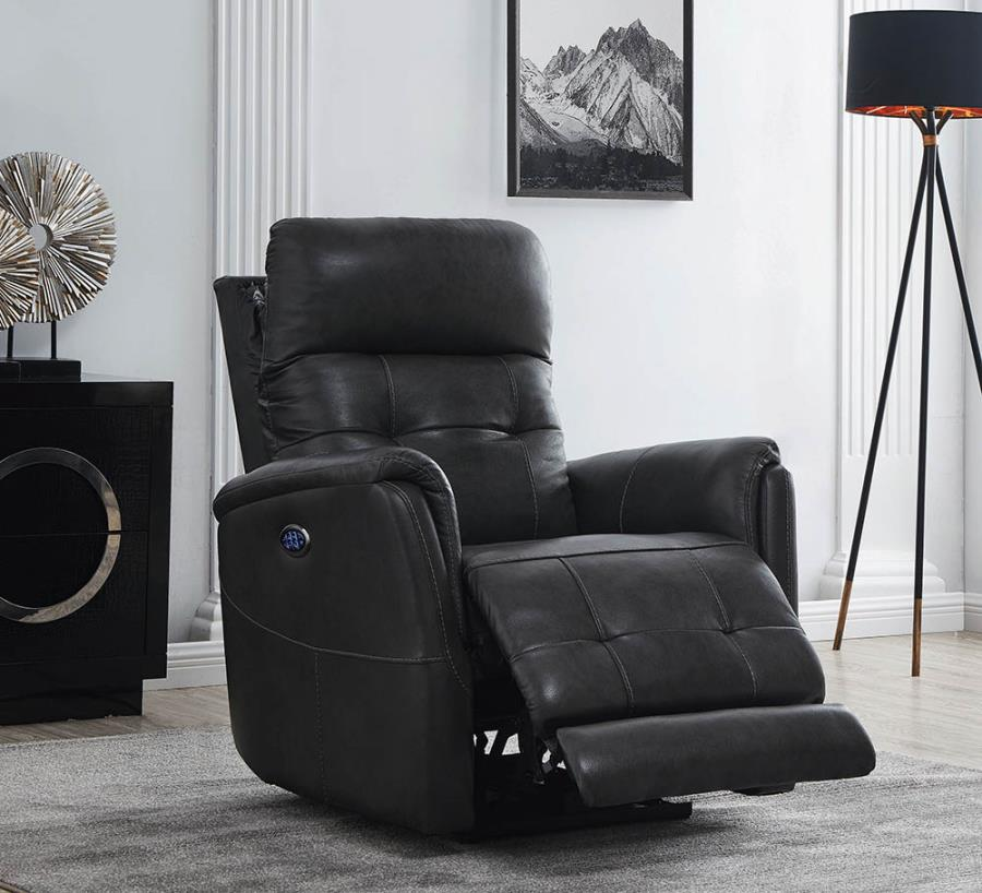 Charcoal Power Motion Recliner
