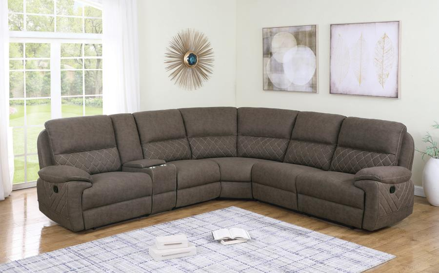 Taupe Complete 6-Piece Sectional Sofa