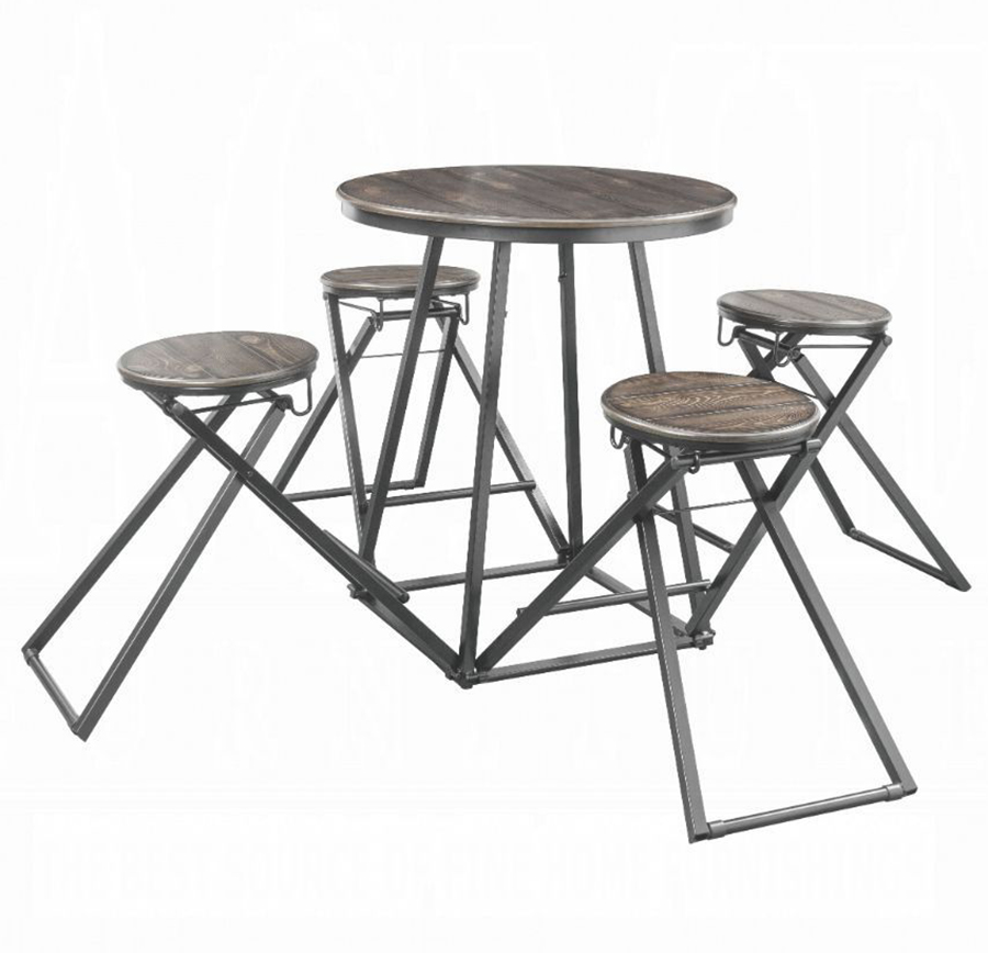 5 Piece Counter Height Table Set Angle