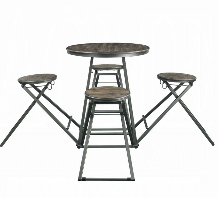 5 Piece Counter Height Table Set Front