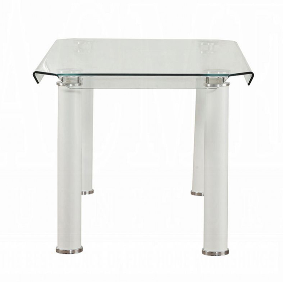 White Leg Dining Table Side