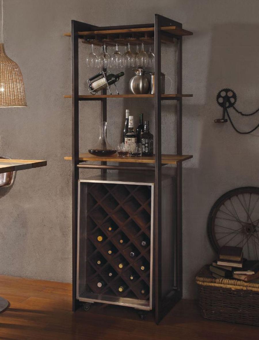 Complete Stemware Rack w/ Wine Cabinet