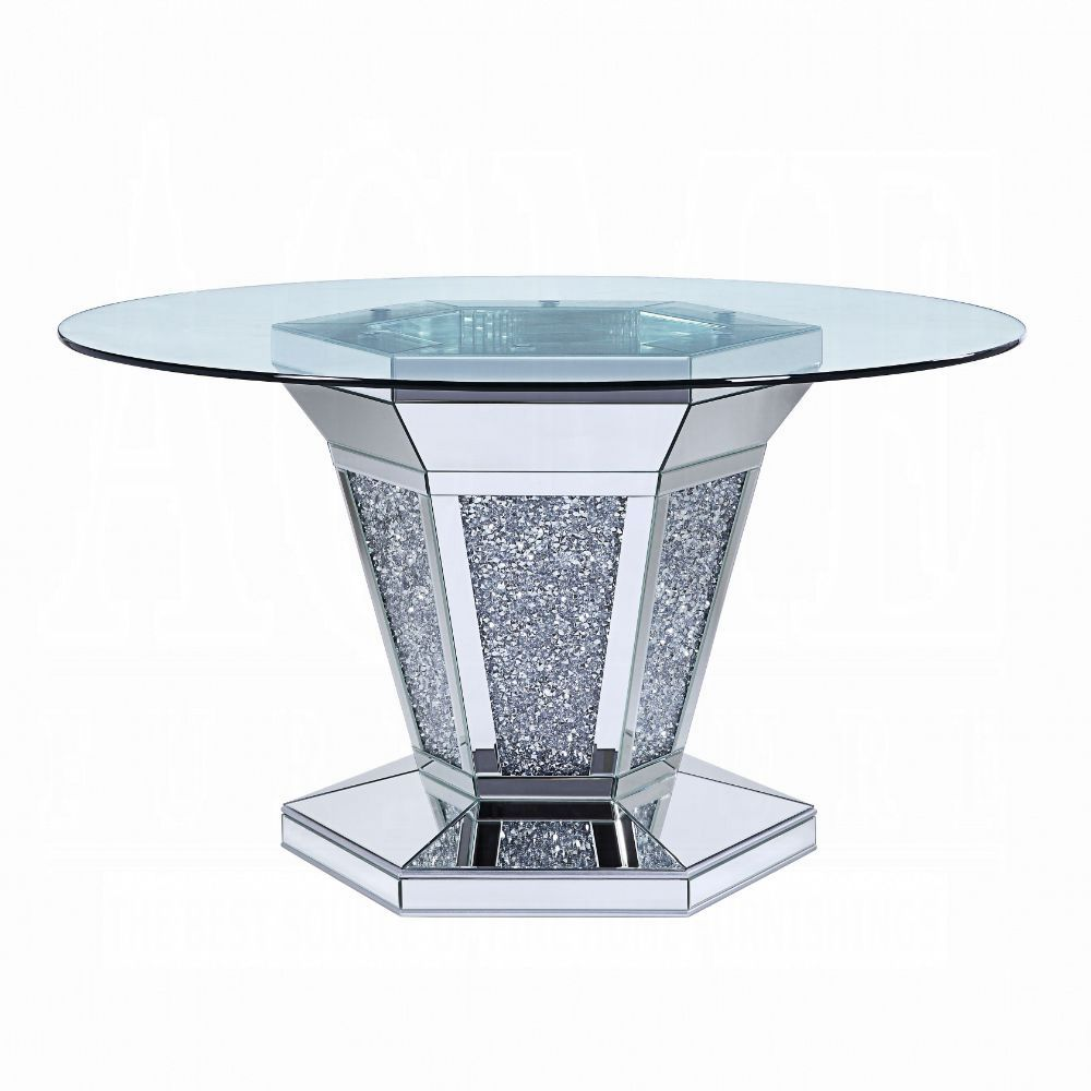 Dining Table Faux Diamond Side View