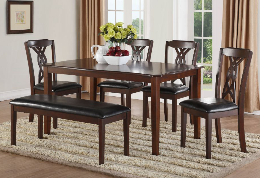 Complete 6 Piece Dining Table Set