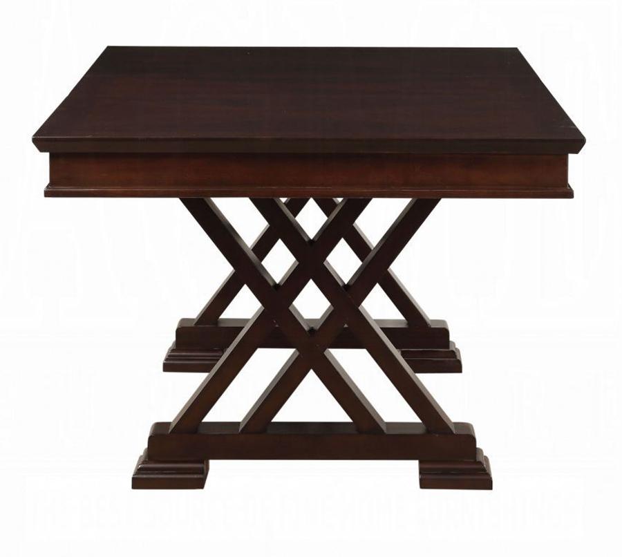 Dining Table XX Shape Leg Base