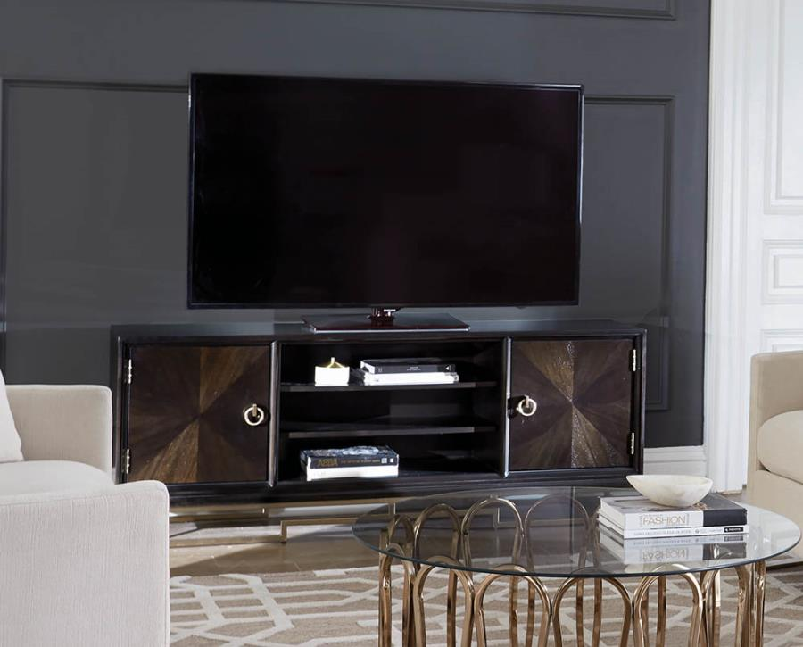 TV Console w/ TV for Completed View