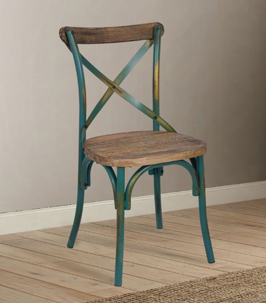 Antique Turquoise Side Chair