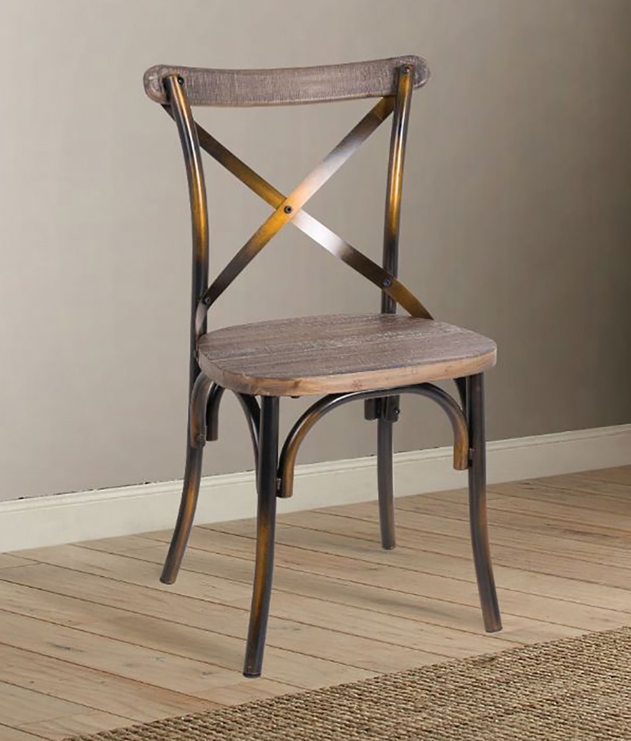 Antique Copper Side Chair