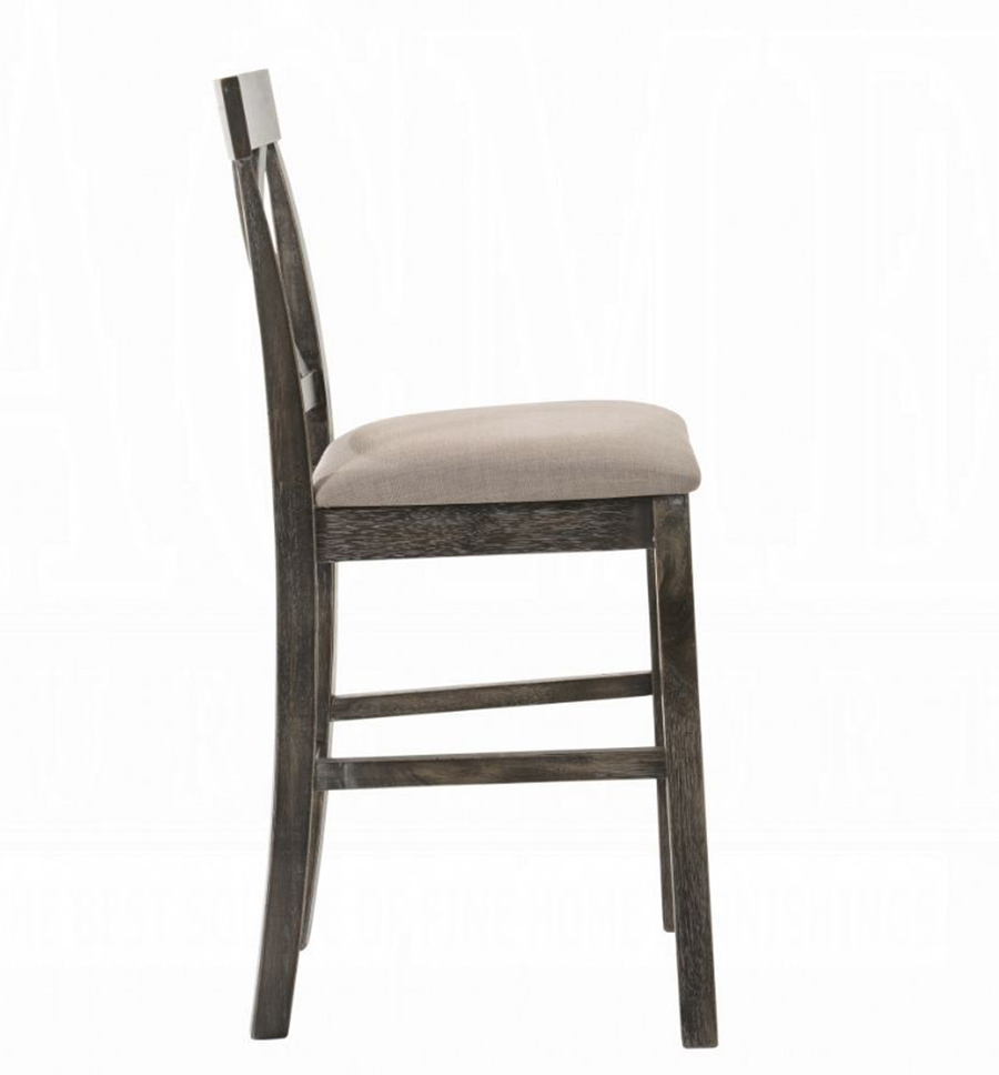 Weathered Gray Counter Height Chair Side